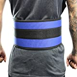 Last Punch 6″ Nylon Power Weight Lifting Belt / Back Support Belt Blue