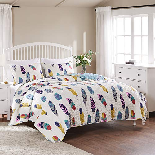 ANNA.Z HOME Stone Washed Super Soft 3-Piece Quilt,Coverlet Set,King and Queen Set in Solid Colors.Perfect for All Seasons.