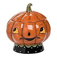 Halloween Jack O Lantern Cookie/Candy Jar Johanna Parker New Trick Or Treat