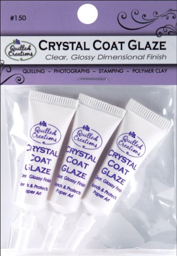Glaze Clear Crystal (Quilled Creations Crystal Clear Coat Glaze for Paper Crafting, 3 Per Package)