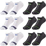 Sof Sole (6 Pairs) Men's No Show Athletic Sports Tab Selective Cushion Socks Fits Shoe Size 8-12.5