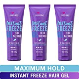 Aussie Instant Freeze Sculpting Maximum Hold Hair Gel with Jojoba Oil, Sea Kelp and Australian Aloe, 7 Oz (Triple Pack) (Packaging May Vary)