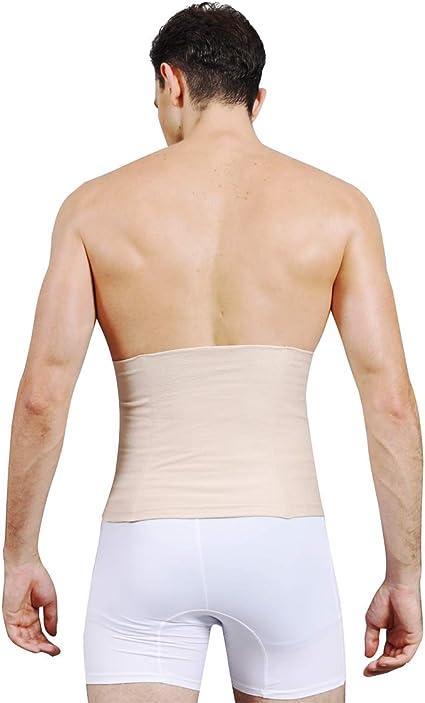 SLIMBELLE Homme Ceinture Gainante /Élastique Taille Amincissante Ventre Plat Minceur Gaine Abdominale Compression Lombaire Noir/&Blanc