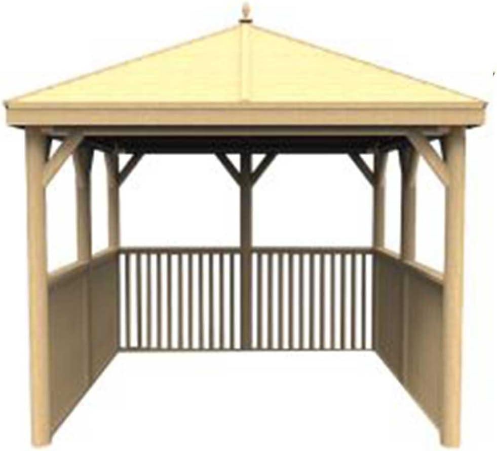 Cenador cuadrado de madera con techo de madera tradicional, sin ...