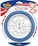 Helix 360° Angle and Circle Maker, Assorted Colors, 5 Pack