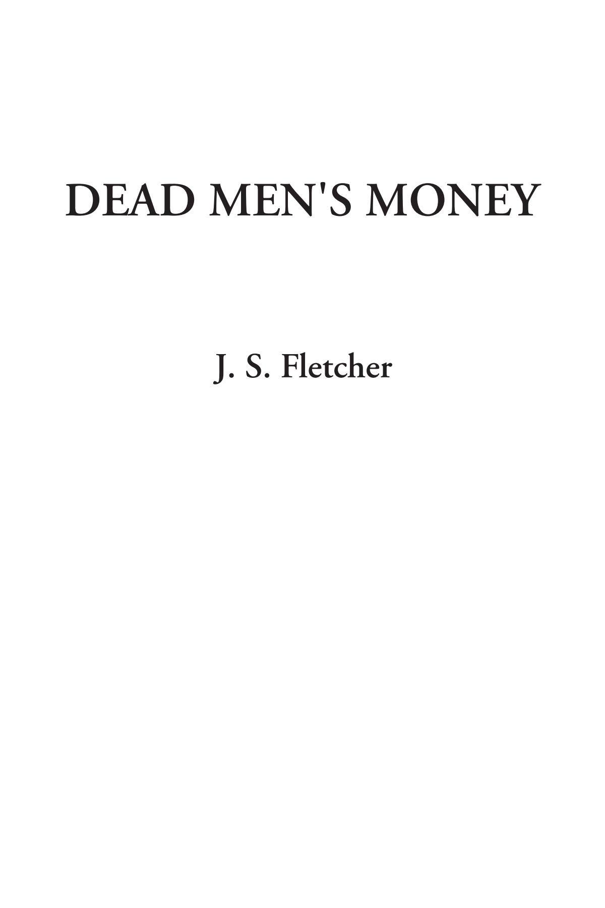 Dead Men's Money ebook
