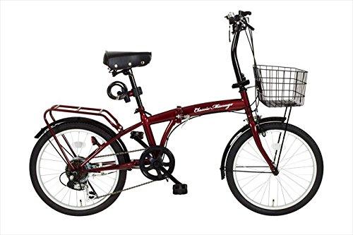 クラシック ミムゴ【Classic Mimugo】 折り畳み自転車 20インチ FDB206S-OP MG-CM206 1710 クラシックレッド B076D2Z91J