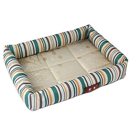 Yiuu Cama para Mascotas Summer Cool Pet Nest Kennels Resistente A Las Mordiscos Cool Mat Dog