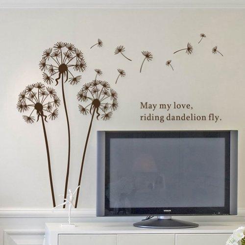 brown dandelion decal - 9