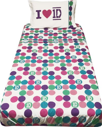 One Direction Full Bed Sheet Set 4pc Color Polka Dots