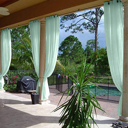Nickle Accents - cololeaf Energy Efficient Privacy Protection Panels Room Divider Indoor Outdoor Curtain Window Treatment Draperies - Nickle Grommet - Mint 120