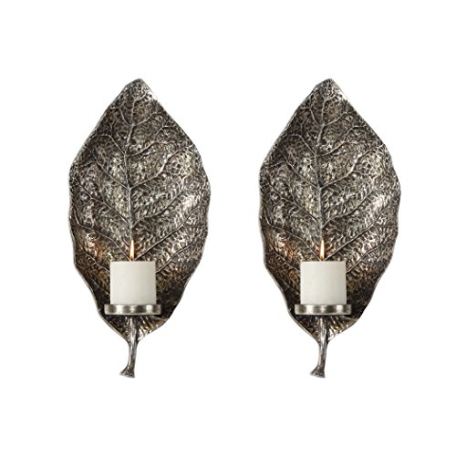 2-Pc Leaf Wall Sconce Set (Home Accents Uttermost 2)