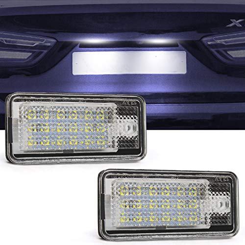 License Plate Light, Ourbest License Tag Light 18-SMD LED License Plate Rear Lamp With CANBUS Free Error Waterproof 12V 6000K White Fit For Audi A3 S3 A4 S4 A6 S6 A8 S8