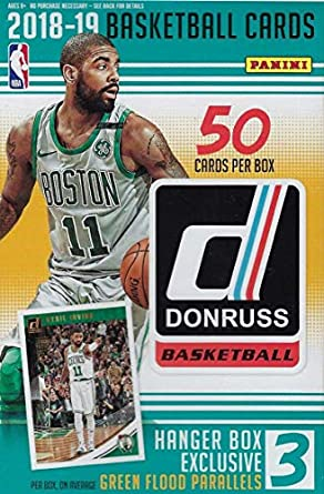 a8a203004f7 2018 2019 Donruss NBA Basketball Hanger Box of 50 Cards with EXCLUSIVE  Green Flood Parallels Found