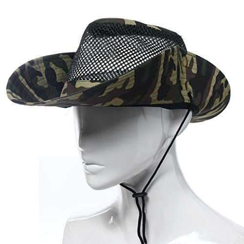 GOTD Outdoor Mesh Sunshade Fishing Bucket Hat Cap for Hiking,Climbing,Fishing,Camping,Travelling (Camouflage)