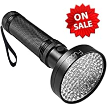 UV Flashlight - Fubosi UV Black light Flashlights 100 LED 395 nm UV Detector Light for Dog Cat Urine, Pet Stains, Bed Bugs, Scorpions, Machinery Leaks Inspection