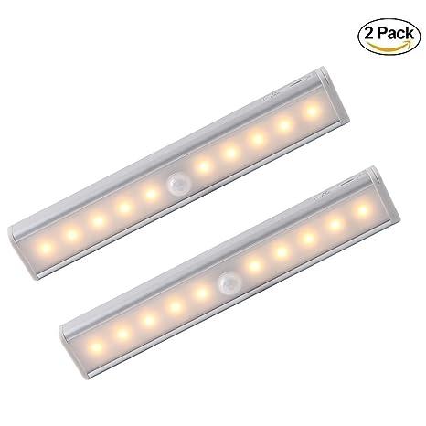 EZS _ store funciona con pilas Sensor de movimiento luz nocturna, 10 LED tira de
