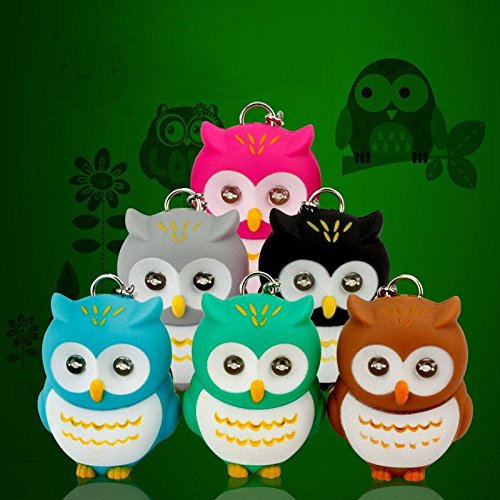 Cute Mini Flashlight Owl Eyes Lovely Key Rings Pendant with - Legends Hong Of India Kong
