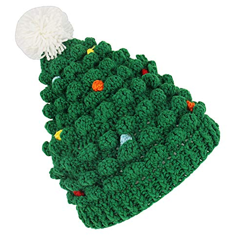Green Santa Hat for Kids Christmas Novelty Beanie Hats Winter Knitted Cotton Crochet Hats G009 -