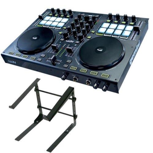 Gemini G2V 2-Channel Virtual DJ Controller w/ Odyssey LSTAND-S DJ Computer Stand (Virtual Dj Interface)