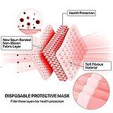 50 Pcs Disposable Face Cover 3-Ply Filter Non