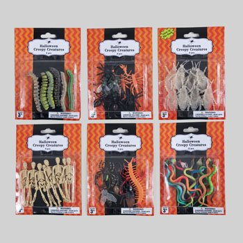 Set of 24 Packs (192 Total) Creepy Creatures! Perfect for Your Next Halloween Gathering!]()