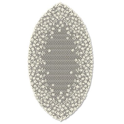 (Heritage Lace Blossom Table Runner Color: Ecru, Size: 54