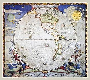 National Geographic World Maps Poster Kunstdruck Bild Western ...