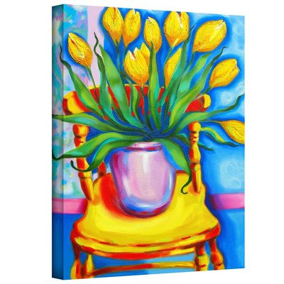 Art Wall Susi Franco's Yellow Tulips In Van Goghs Chair