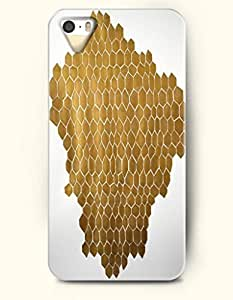 Phone Case For iPhone 5 5S Gold Honeycomb - Hard Back Plastic Case / Geometric Pattern / SevenArc Authentic