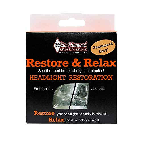 Restore & Relax Headlight Restoration Kit - Long Lasting Headlight Polish Removes...