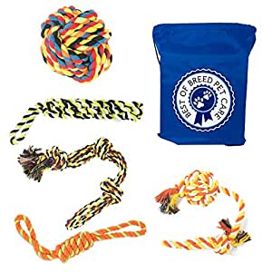 Pet Supplies : Dog Rope Toys for Large & Extra Large Dogs