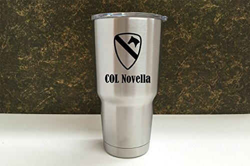 YETI Rambler Laser Engraved w/Army Unit Name Choose from YETI Water Bottle, Mug, or Colster by DoGood Designs