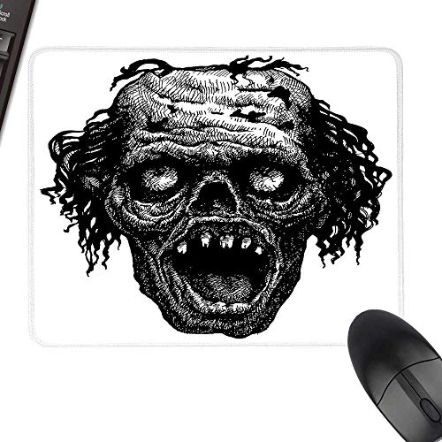 Halloween Hot Selling Extra Large Mouse Pad Zombie Head Evil Dead Man Portrait Fiction Creature Scary Monster Graphic Natural Rubber Gaming Mouse Mat 23.6