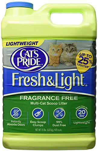 Oil Dri Cat's Pride Fresh and Light Premium Clumping Fragrance Free Scoopable Cat Litter 51LGkVEpnUL