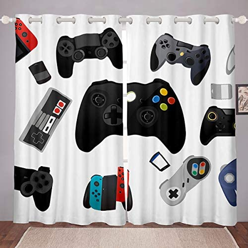 Castle Fairy Gamer Video Game Blackout Curtains Gamepad Game