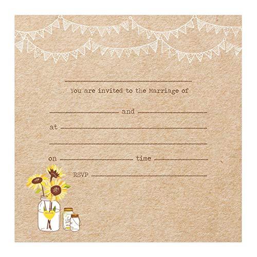 Rustic wedding invitations amazon the card gallery wedding postcard invitations rustic sunflowers pack of 10 filmwisefo