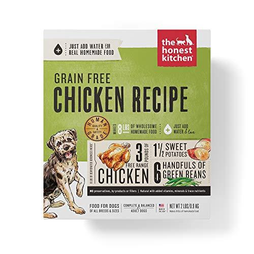 - Honest Kitchen Human Grade Dehydrated Grain Free Chicken Dog Food 2 lb - Force