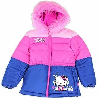 Amazon Com Hello Kitty Toddler Girl S Pink Blue Fur Like