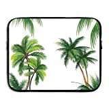 Coconut Palm Tree Nature Paradise Plants Foliage Leaves Laptop Bag Tablet Case Shockproof Spill-Resistant Waterproof 13 Inch