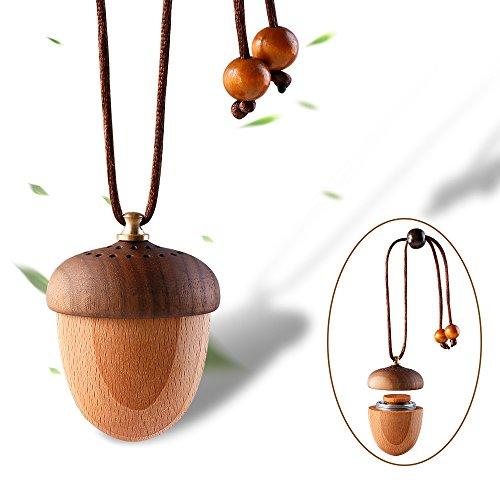 RoyAroma Wooden Acorn Essential Oil Car Diffuser Air Freshener Hang Decoration