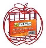 Belle Fleur Apple Suet Bird Feeder, Red, One Suet Cake Capacity Review