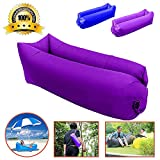 Msestp Inflatable air Lounger, Fast Inflation Air Sofa Inflatable Couch Outdoor Waterproof Portable Air Couch for Bed, Floor, Camping, Beach (Purple)