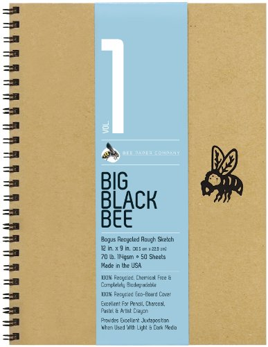 Bee Paper Company BEE-202CB50-912 Big Black Bee Bogus Pad, 9 by 12-Inch