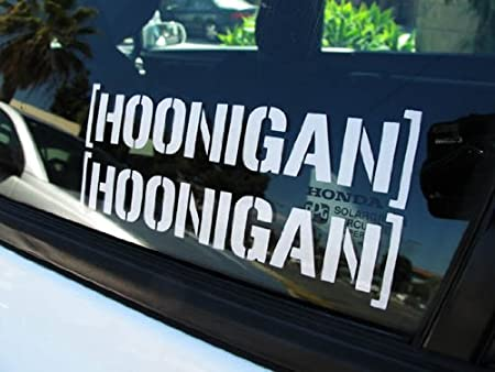 Amazoncom IJDMTOY Cool JDM Fiesta HOONIGAN Ken Block Hater - Cool decal stickers for cars