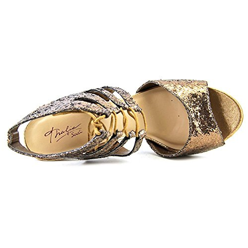 Bronze US M Dress Sodi Thalia Sparkle Sandals Rhumba 7 7X4xBS