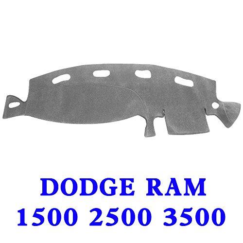 JIAKANUO Auto Car Dashboard Dash Board Cover Mat Fit for Dodge Ram 1500 2500 3500 1998-2001(Ram 98-01, Gray) MR021