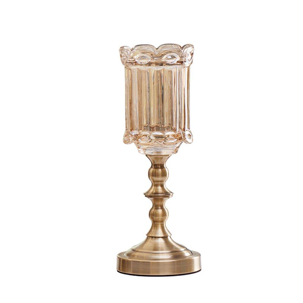 Peacefre ヨーロッパの新古典的な真珠のガラスの花瓶花の装飾品シミュレーションのリビングルームの家の装飾 B07F5HYSF9