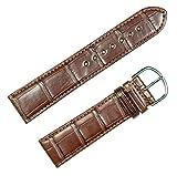 Genuine Alligator Watchband Brown 19mm Watch band by deBeer