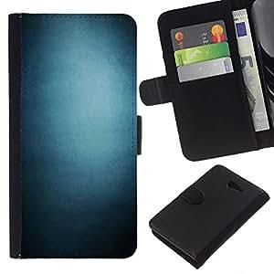 YiPhone /// Tirón de la caja Cartera de cuero con ranuras para tarjetas - Pendiente azul - Sony Xperia M2